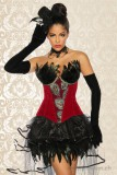 Burlesque-Corsage M rot