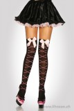 Stockings mit Knochen-Muster XS-M schwarz/rosa
