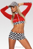 Racing Hot-Pants-Set XS-L rot