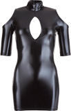 Wetlook-Minikleid schulterfrei M